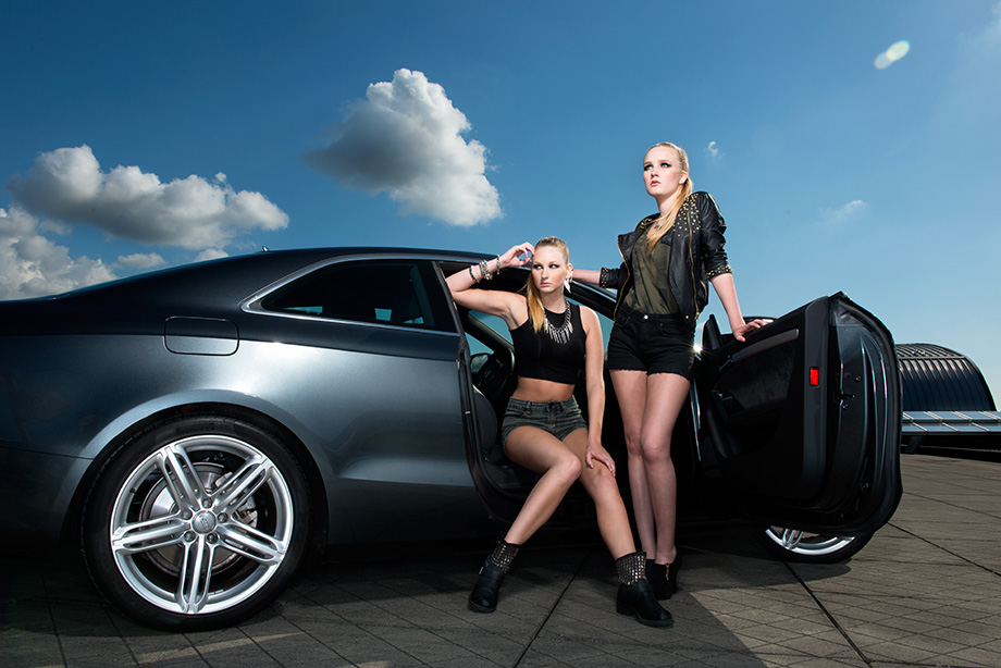 Audi shoot with Yasmin and Ellen